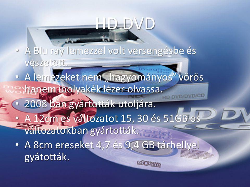 Blu ray A HD DVD hez hasonlóan 405nm es ibolyakék lézer olvassa.