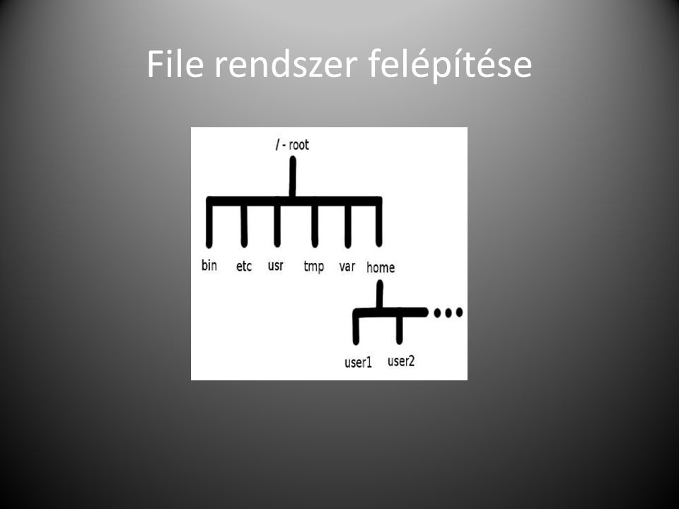 File rendszer felépítése