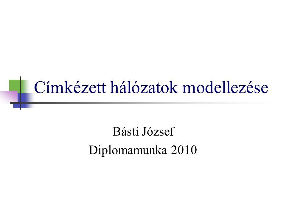 Címkézett hálózatok modellezése Básti József Diplomamunka 2010