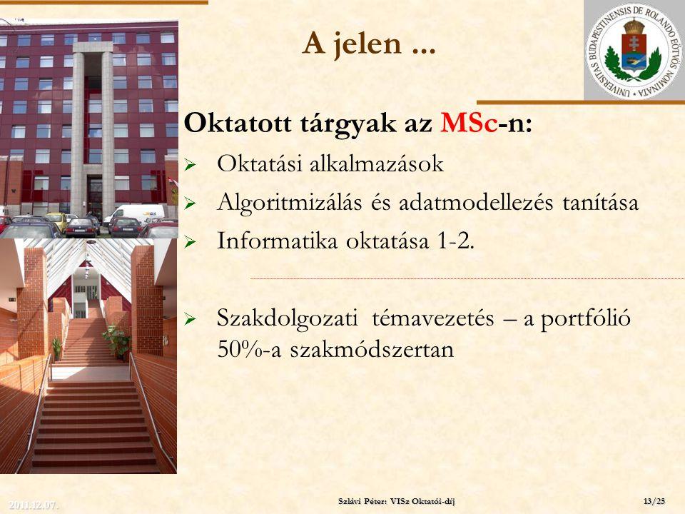 ELTE A jelen... Oktatott tárgyak az MSc-n:  Oktatási alkalmazások  Algoritmizálás és adatmodellezés tanítása  Informatika oktatása 1-2.  Szakdolgo