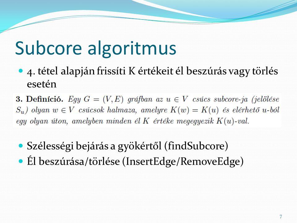 Subcore algoritmus 4.