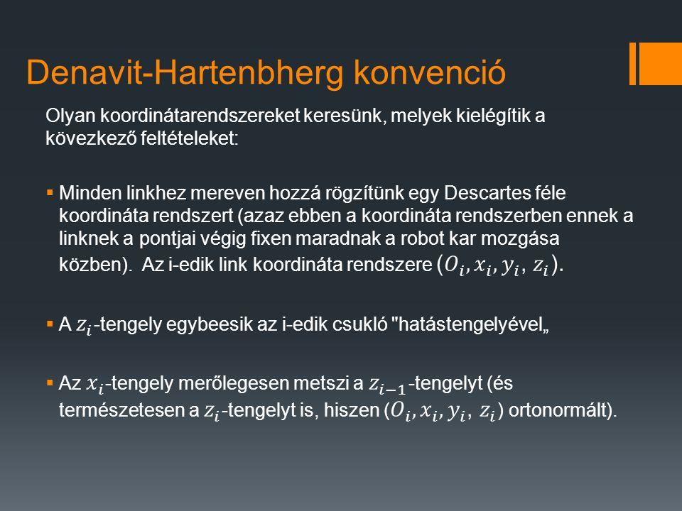 Denavit-Hartenbherg konvenció