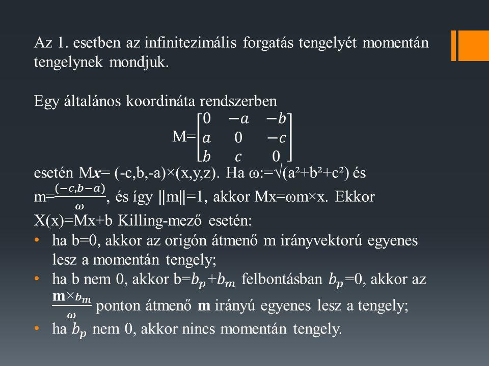A szinguláris pozíciók megtalálása nem lineáris algebrai feladat.
