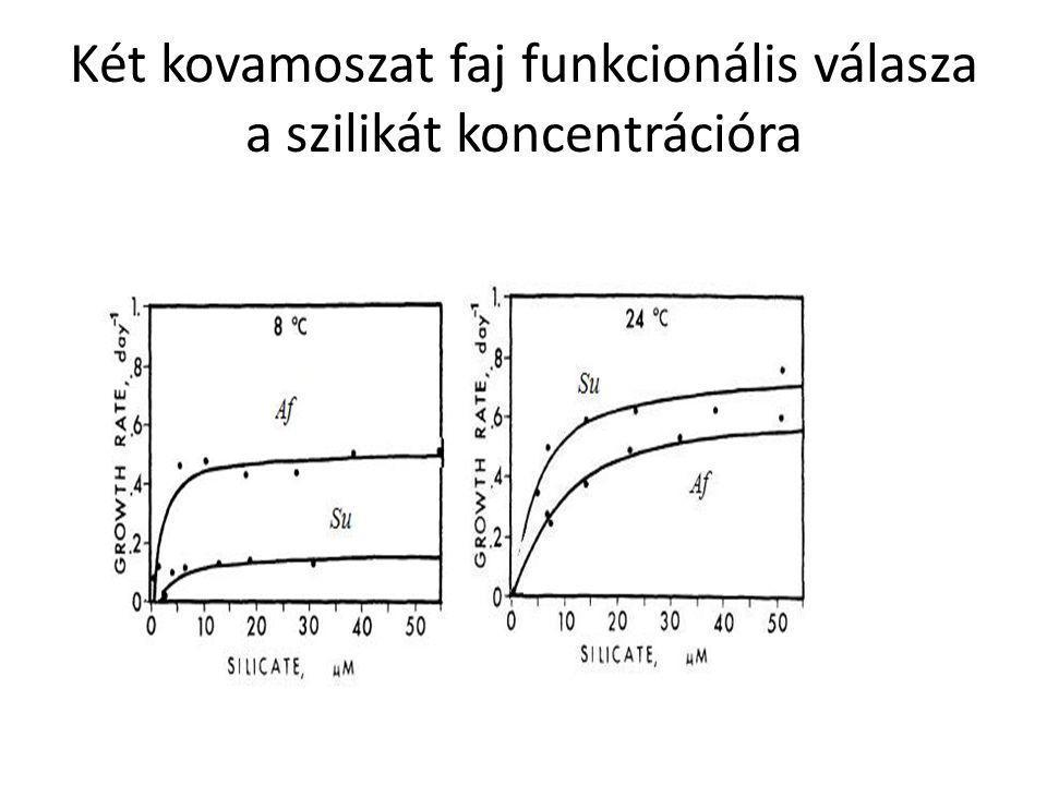 Két kovamoszat faj funkcionális válasza a szilikát koncentrációra