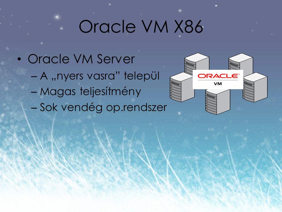 """Oracle VM X86 Oracle VM Server – A """"nyers vasra települ – Magas teljesítmény – Sok vendég op.rendszer"""