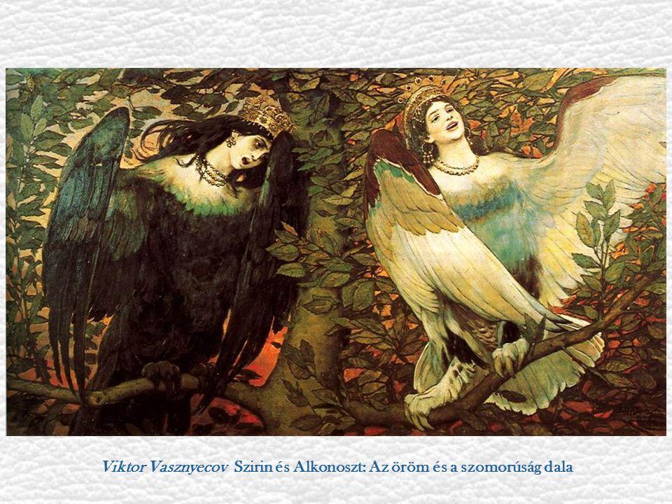 Viktor Vasznyecov Szirin és Alkonoszt: Az öröm és a szomorúság dala