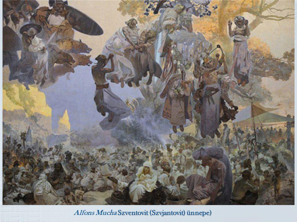 Szventovit (Szvjantovit) ünnepe) Alfons Mucha Szventovit (Szvjantovit) ünnepe)