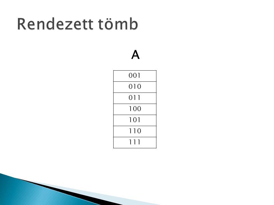 Bináris számokra egyetlen tömbben megoldható a rendezés.