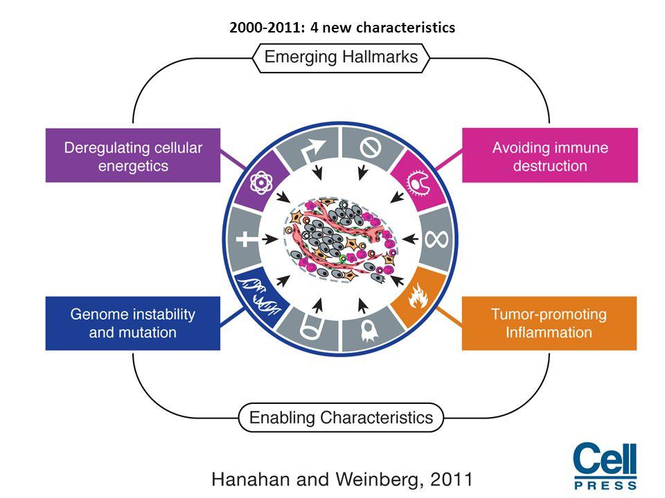 2000-2011: 4 new characteristics
