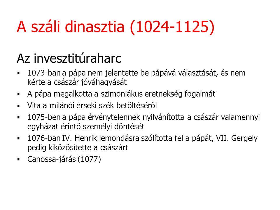 A Stauf-dinasztia (XII-XIII.század) I.