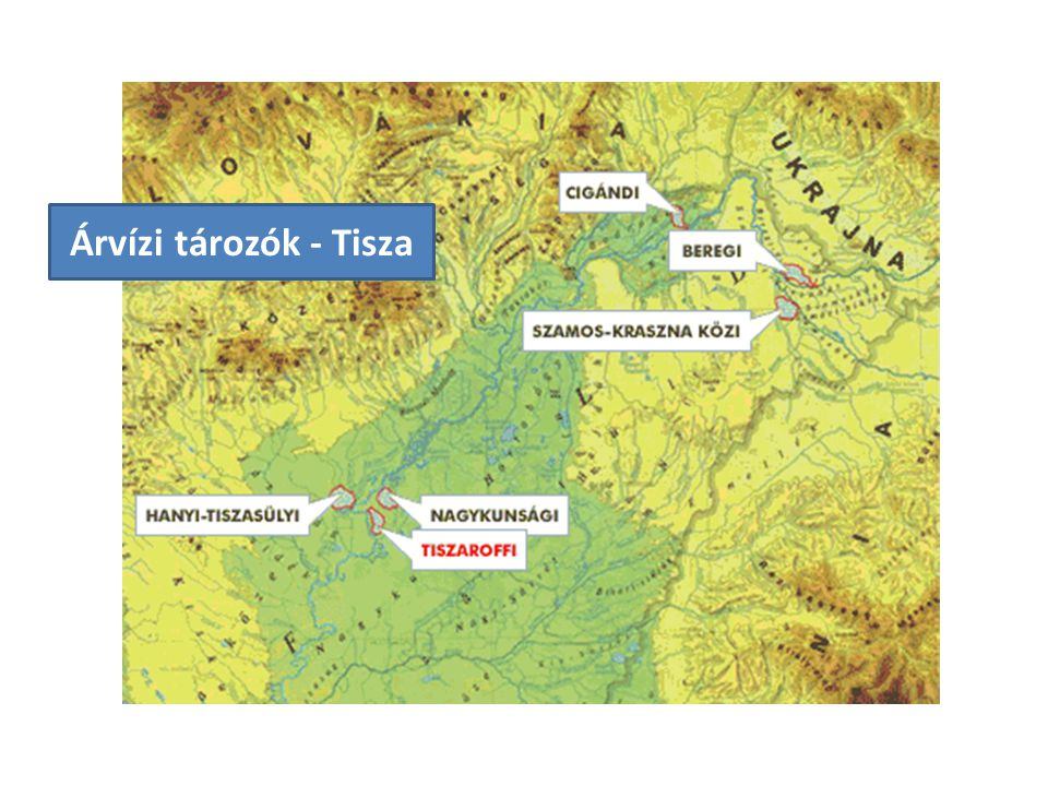 Árvízi tározók - Tisza