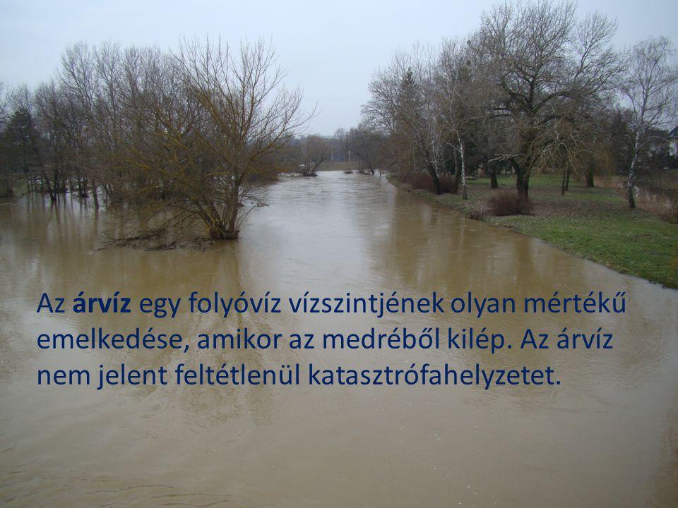 Árvizek három nagy csoportja: jégtorlódásból adódó jeges árvíz (például az 1838-as pesti ár), az egyszerre olvadó hótömegből keletkező tavaszi árvíz (ez okozott a Duna felső szakaszán 150 éve nem látott vízszintet 2006 márciusában) nagy tavaszi, vagy nyári esőzésekből keletkező zöldár