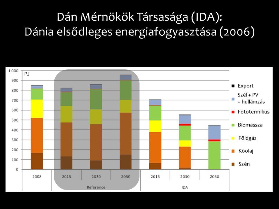 Dán Mérnökök Társasága (IDA): Dánia elsődleges energiafogyasztása (2006)