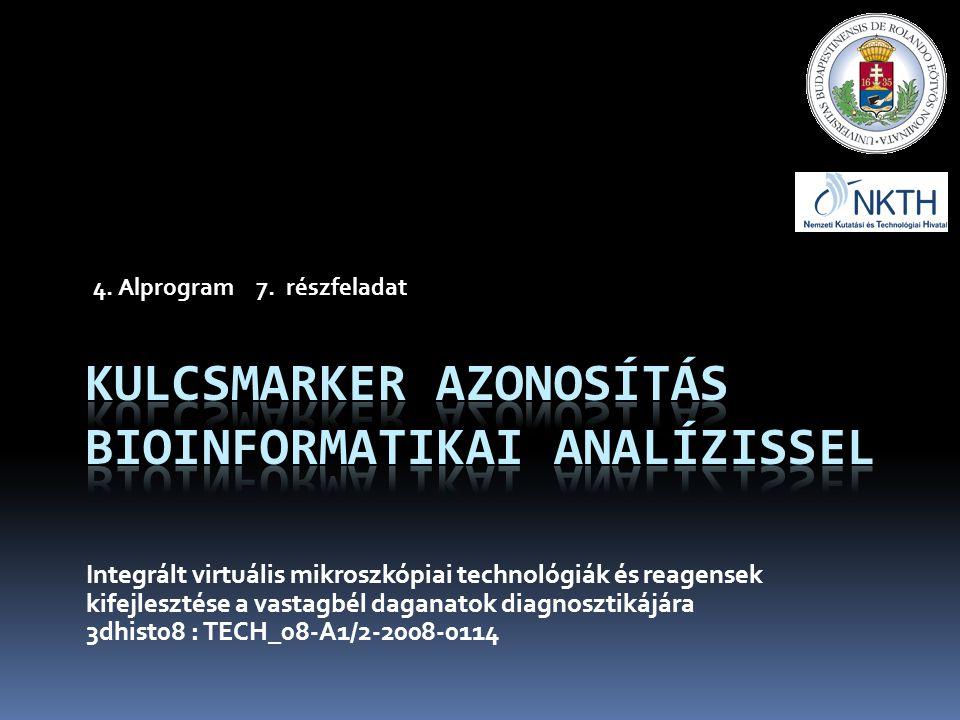 Integrált virtuális mikroszkópiai technológiák és reagensek kifejlesztése a vastagbél daganatok diagnosztikájára 3dhist08 : TECH_08-A1/2-2008-0114 4.