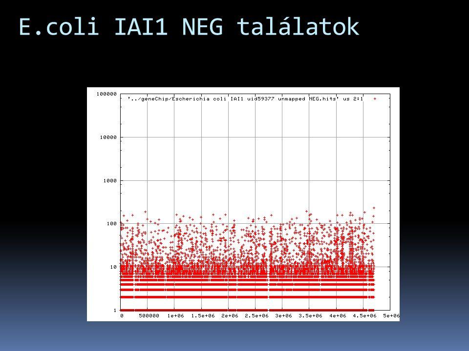 E.coli IAI1 NEG találatok