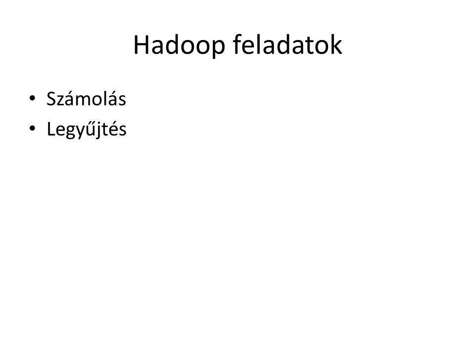 Hadoop feladatok Számolás Legyűjtés