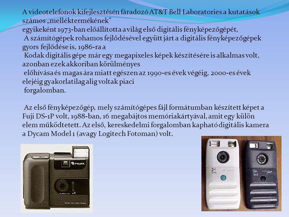 """A videotelefonok kifejlesztésén fáradozó AT&T Bell Laboratories a kutatások számos """"melléktermékének"""" egyikeként 1973-ban előállította a világ első di"""