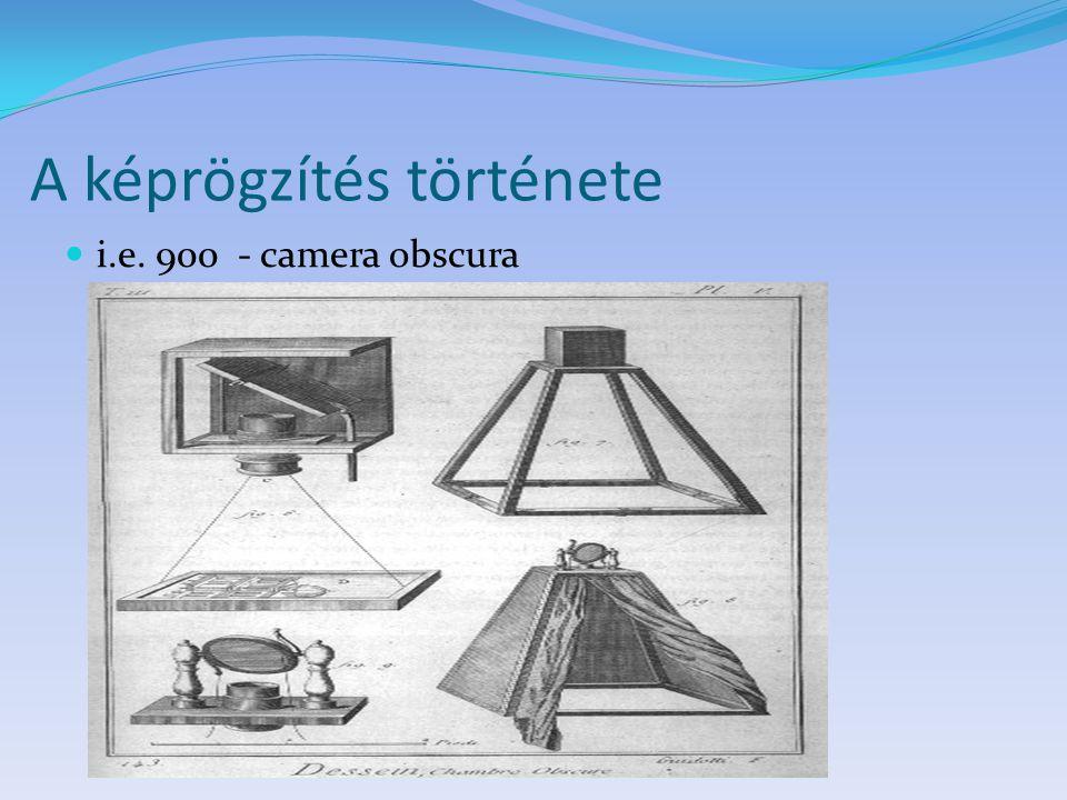 A képrögzítés története i.e. 900 - camera obscura