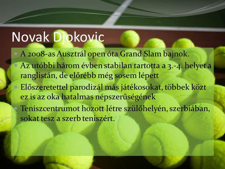Novak Djokovic A 2008-as Ausztrál open óta Grand Slam bajnok.