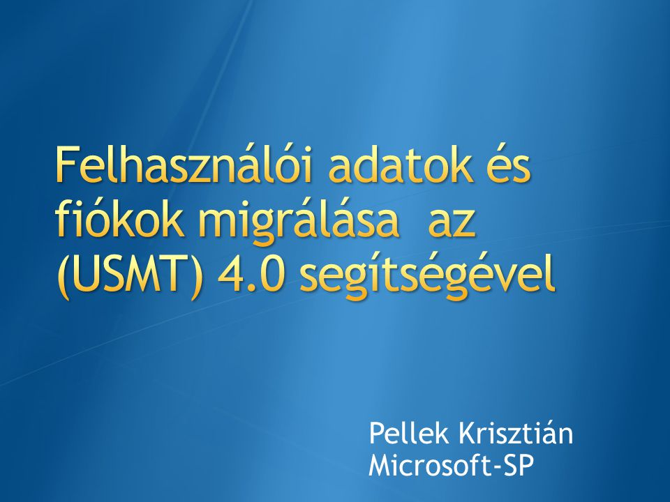 Pellek Krisztián Microsoft-SP