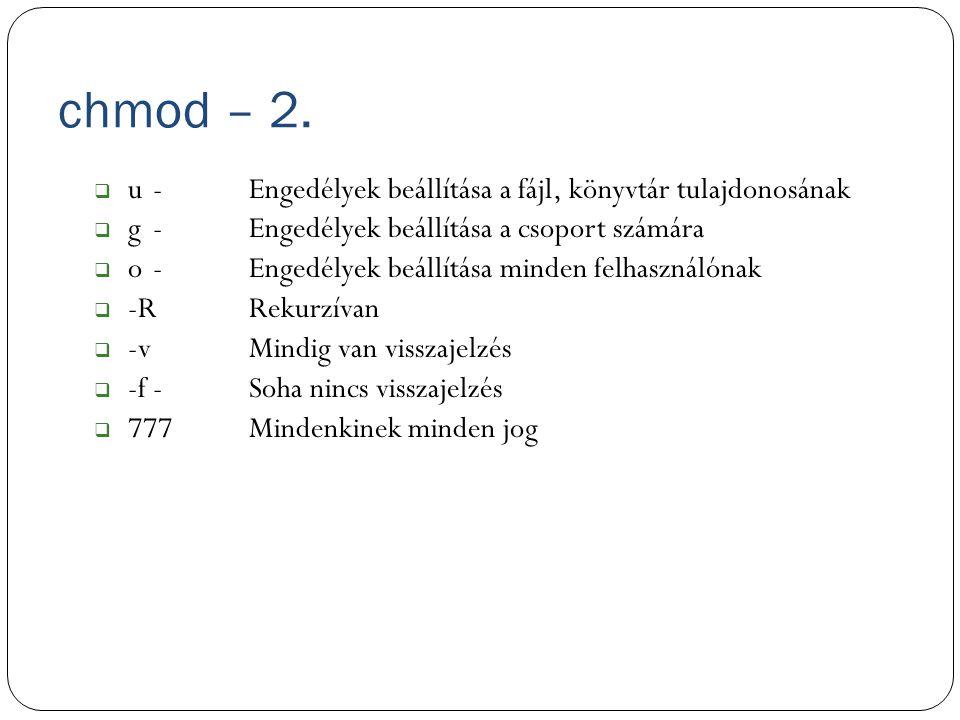 chmod – 2.