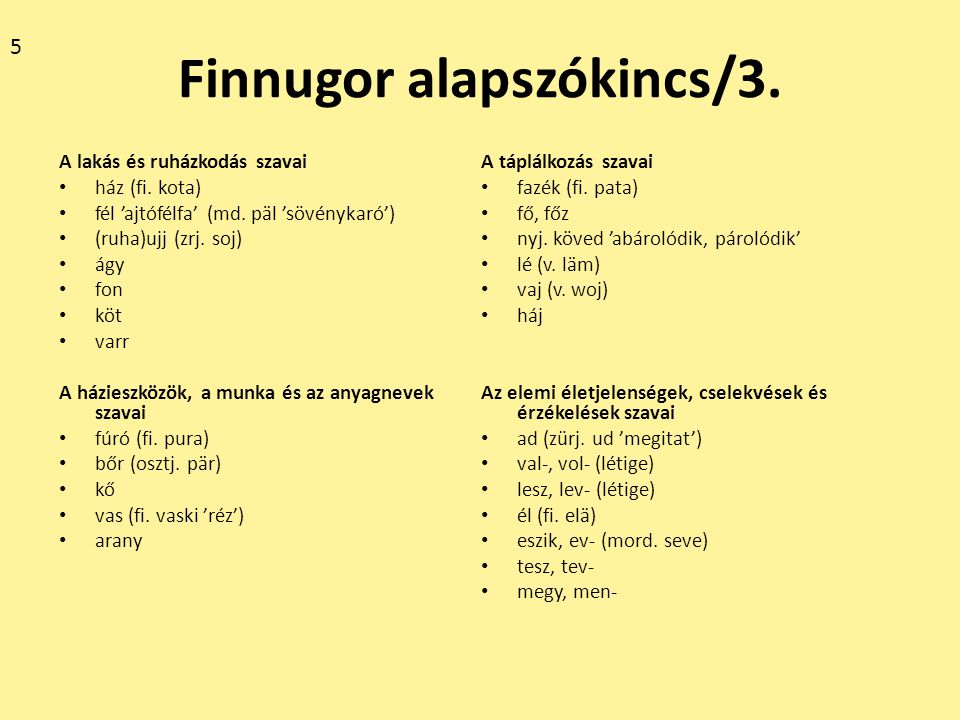 Finnugor alapszókincs/4.Az égitestek és a természeti jelenségek szavai hó 'hold' (fi.