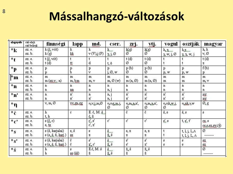 A jellegzetes alapnyelvi tőtípusok http://finnugor.elte.hu/index.php?q=morfon http://finnugor.elte.hu/index.php?q=morfon cvcv = fi.