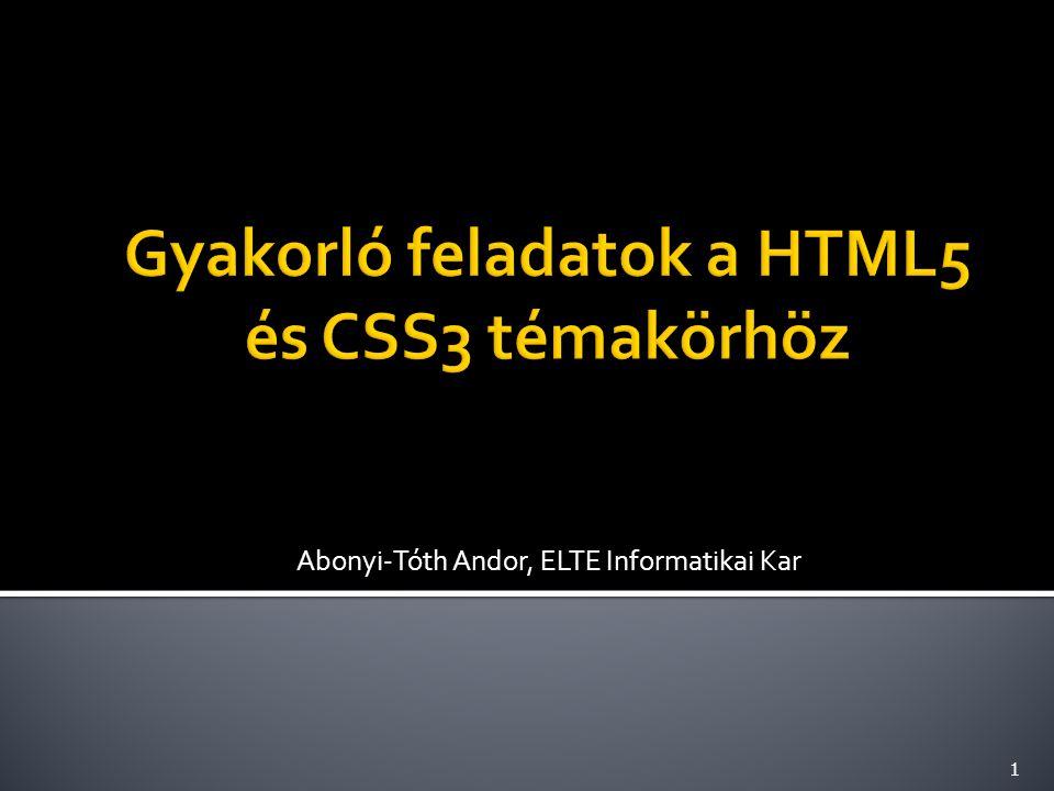 Abonyi-Tóth Andor, ELTE Informatikai Kar 1