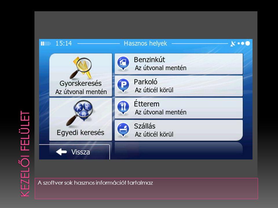 A szoftver sok hasznos információt tartalmaz