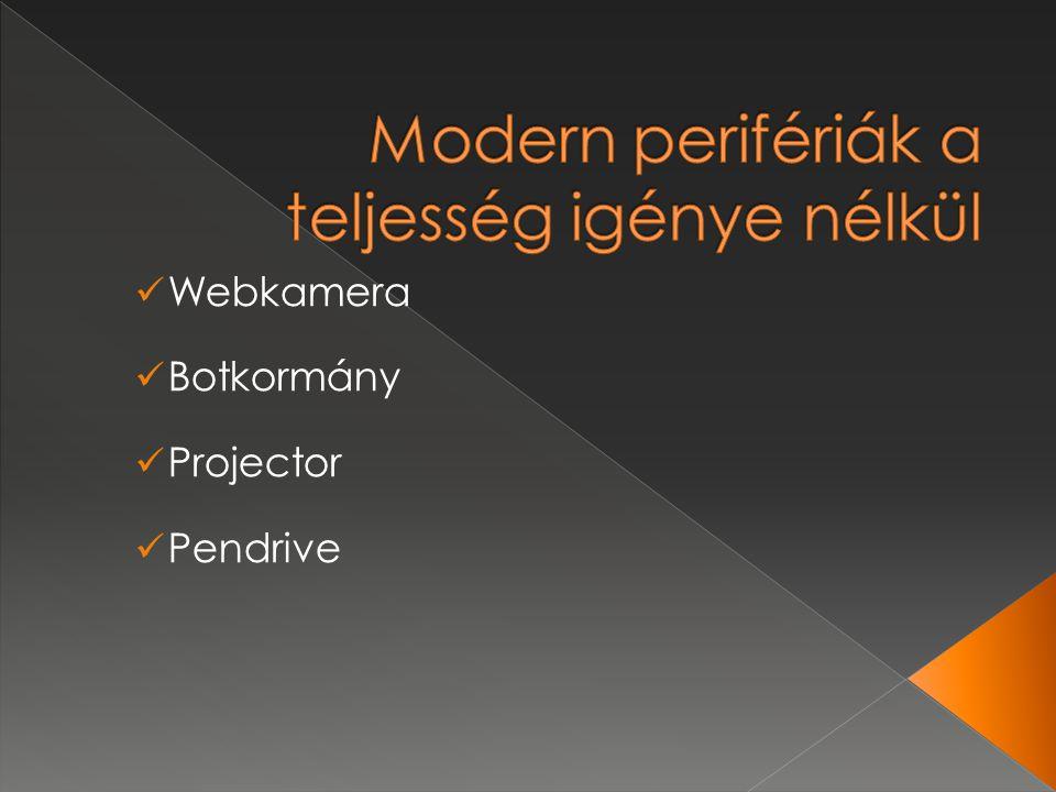 Webkamera Botkormány Projector Pendrive