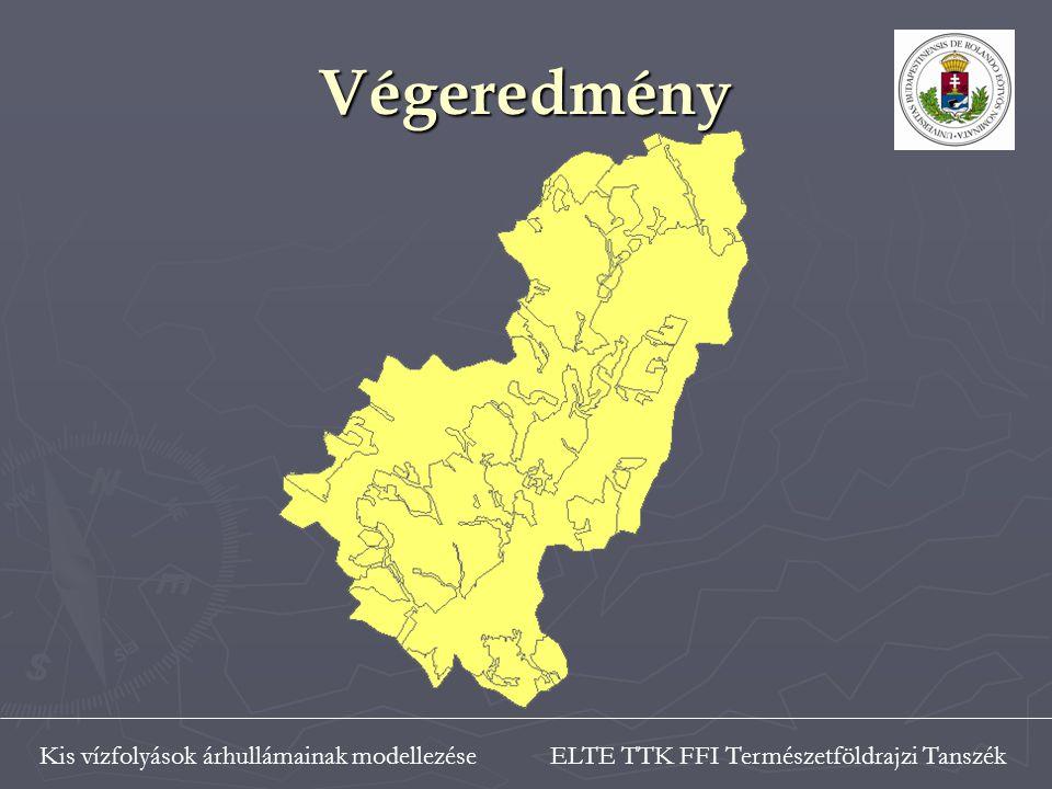 ELTE TTK FFI Természetföldrajzi TanszékKis vízfolyások árhullámainak modellezése Végeredmény