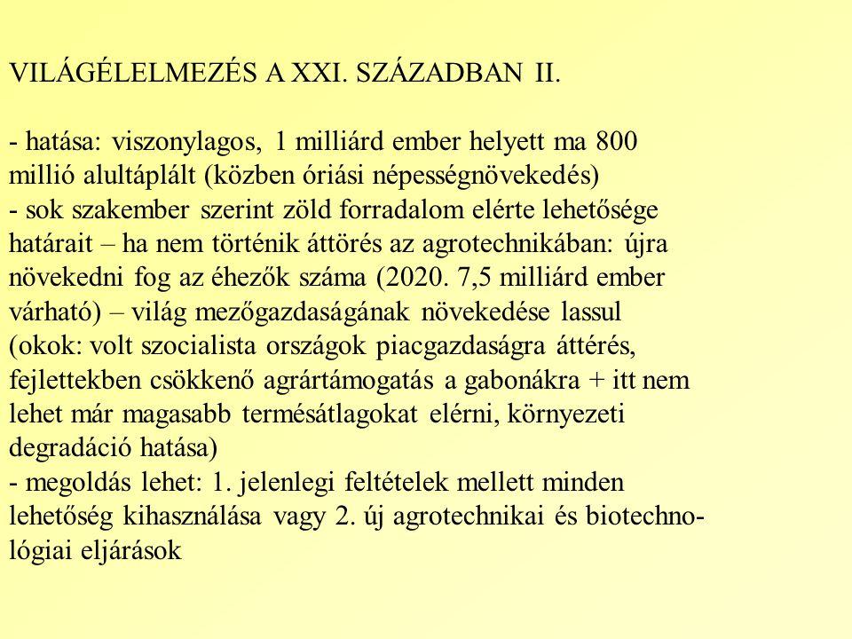 VILÁGÉLELMEZÉS A XXI.SZÁZADBAN II.