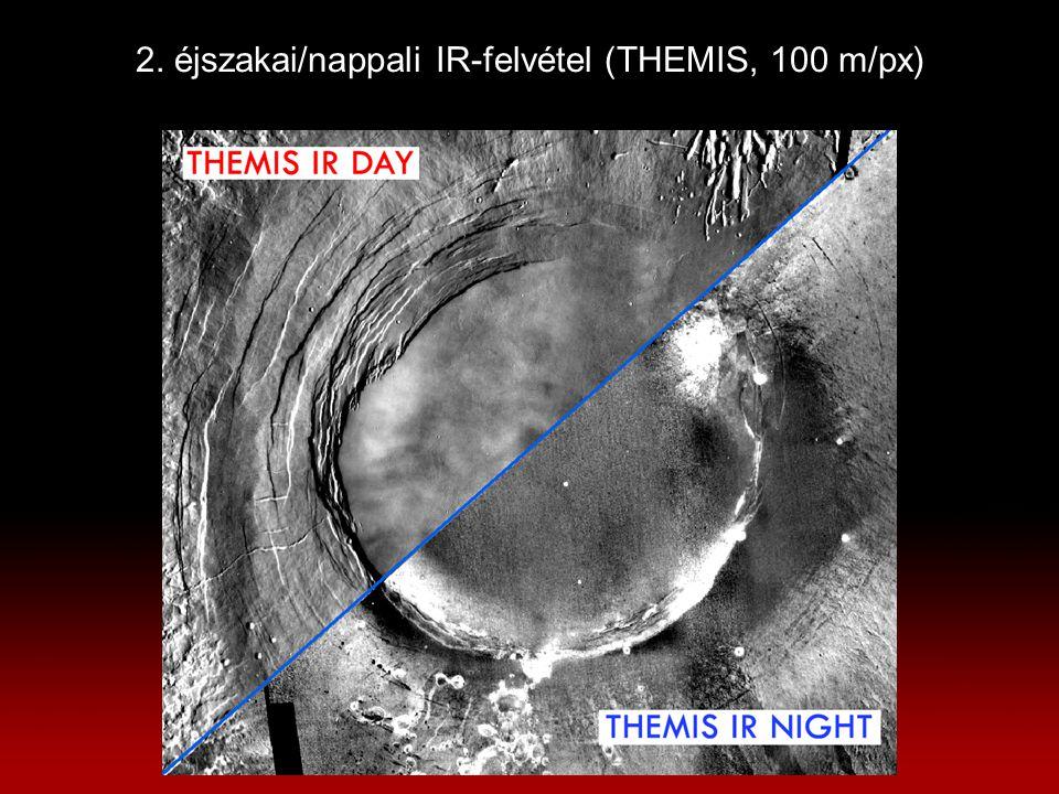 2. éjszakai/nappali IR-felvétel (THEMIS, 100 m/px)