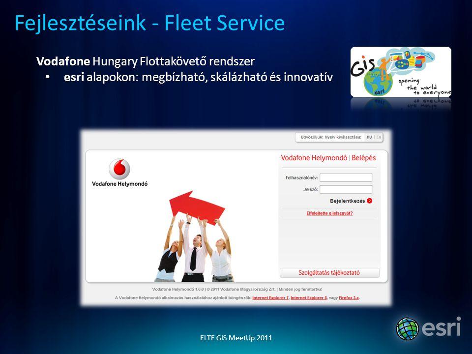 INVITEL INNOMAX DÍJ 2010 GISearch - helyzetalapú szolgáltatások Pécsi K+F központ, világpiaci megjelenés - Android, iOS, WP7 Fejlesztéseink - LBS esri Magyarország Kft www.esrihu.hu ugyfelszolgalat@esrihu.hu ELTE GIS MeetUp 2011