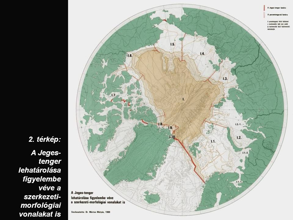 2. térkép: A Jeges- tenger lehatárolása figyelembe véve a szerkezeti- morfológiai vonalakat is