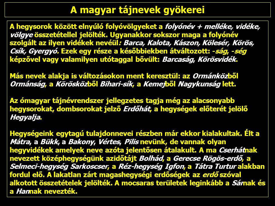 A kettős tájszemlélet: névrajzi különbségek ugyanazon területen, két atlaszban Magyarország atlasz [szerk.