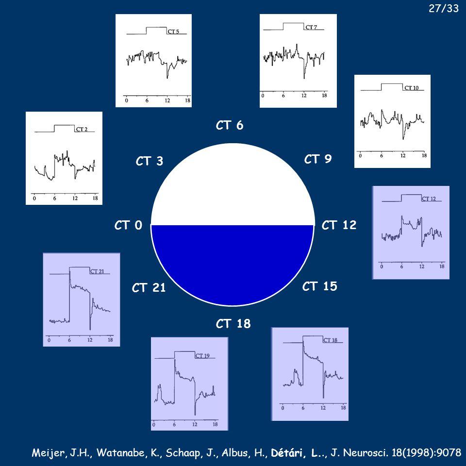 CT 0 CT 3 CT 6 CT 9 CT 12 CT 15 CT 18 CT 21 Meijer, J.H., Watanabe, K., Schaap, J., Albus, H., Détári, L.., J.