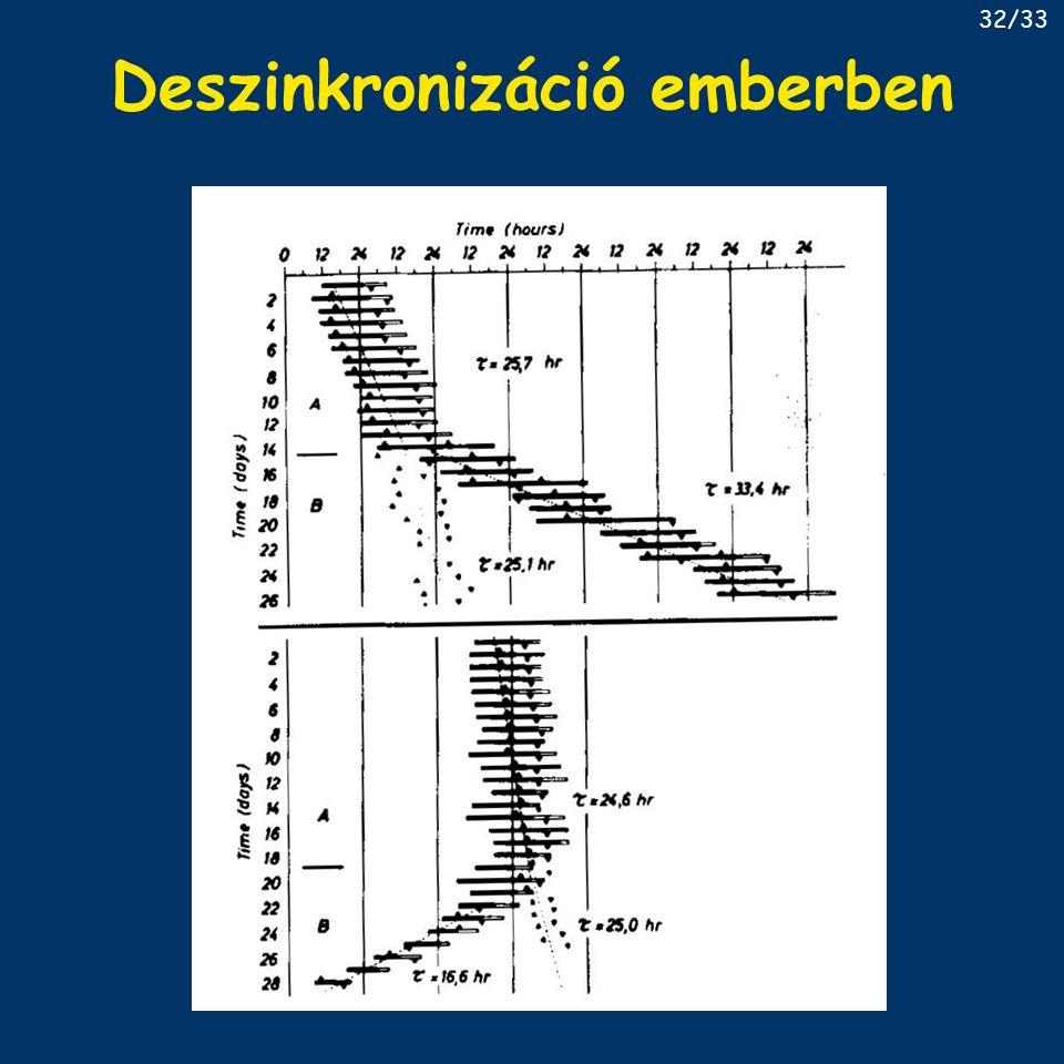 Deszinkronizáció emberben 32/33