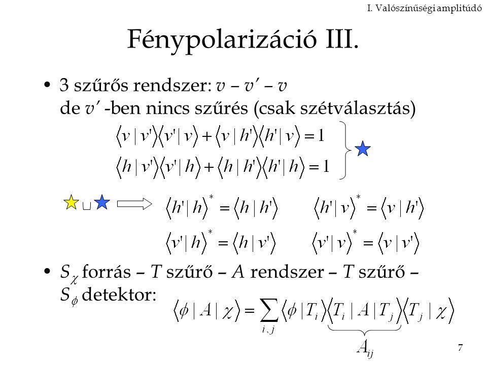 7 Fénypolarizáció III.