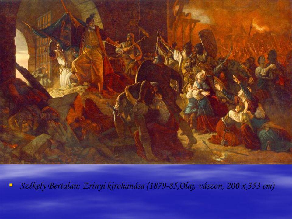   Hollósy Simon: Zrínyi kirohanása (1896, Olaj, fa, 23,5 x 36 cm)