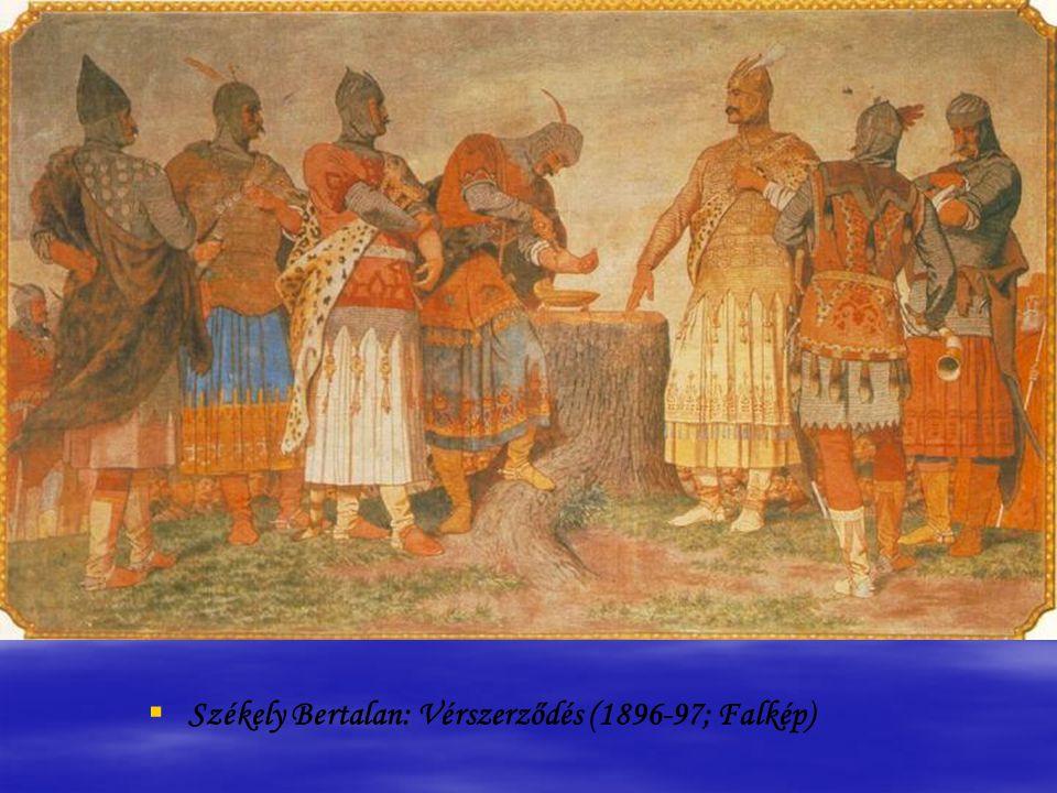 Than Mór: Attila lakomája (1870,Olaj, vászon; 176x255 cm)