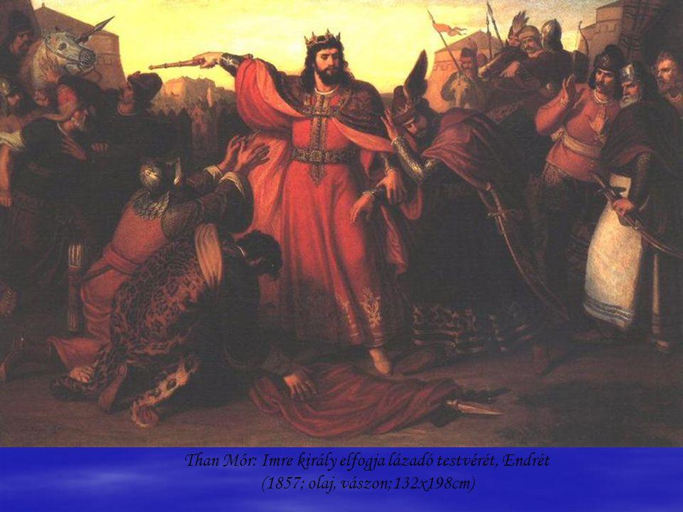 Benczúr Gyula: Vajk megkeresztelése; (1875, olaj, vászon;360x245 cm.)