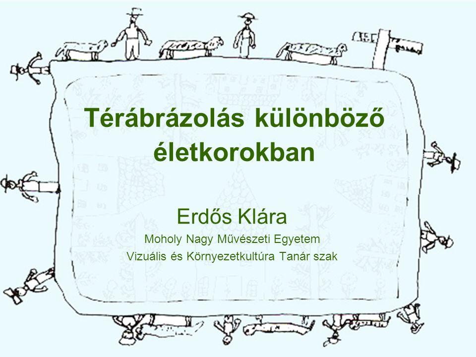 Térábrázolás különböző életkorokban Erdős Klára Moholy Nagy Művészeti Egyetem Vizuális és Környezetkultúra Tanár szak