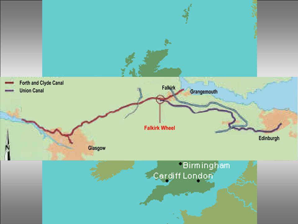 a Grangemouth kikötője és Falkirk vonalon 1777-ben épült meg a Forth and Clyde csatorna, amely összekötötte Glasgow-t a nyugati parttal. Falkirk és Ed