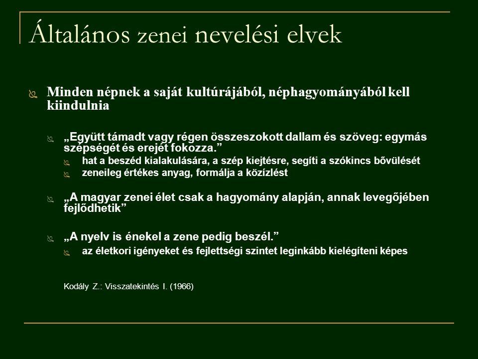 Ajánlott szakirodalom Döbrössy János szerk.(2004): Ének-zene-nevelés.