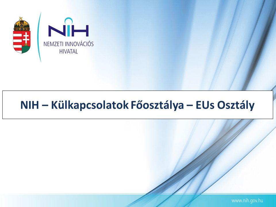 NIH – Külkapcsolatok Főosztálya – EUs Osztály