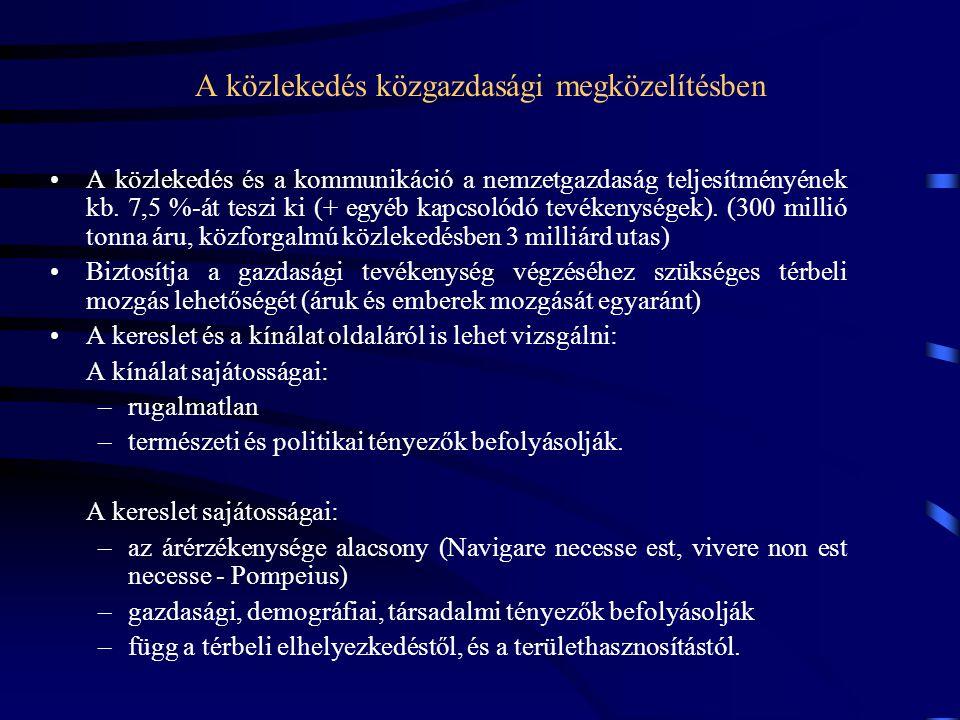 A kereslet és a kínálat viszonya A kereslet és a kínálat viszonyát tekintve három eset fordulhat elő (Koren 1998): Kereslet és kínálat viszonya értékelés Kereslet = Kínálat optimális állapot – nincs tennivaló Kereslet < Kínálat a kereslet növekedésének nincs gátja, gazdaságossági szempontból nem ideális nincs tennivaló Kereslet > Kínálatvan tennivaló (kereslet csökkentés, kínálat növelés)