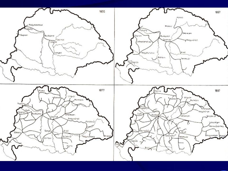 évSzállított utasok száma (ezer fő) Millió utaskmÁtlagos utazási távolság Millió árutonna km 1970359424,2-10,53 19809221076,4-28,3 199015171695111715,4 200024763539142959,7 200222973445150031,4 200550746865135364,2 A Magyarországi légi személy és teherszállítás teljesítményének alakulása 1970-2005 (Magyarországon bejegyzett gépekkel) Forrás: KSH