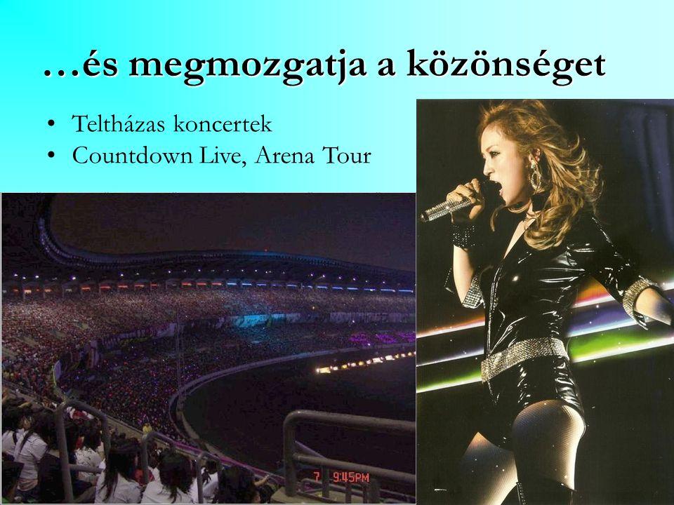…és megmozgatja a közönséget Teltházas koncertek Countdown Live, Arena Tour
