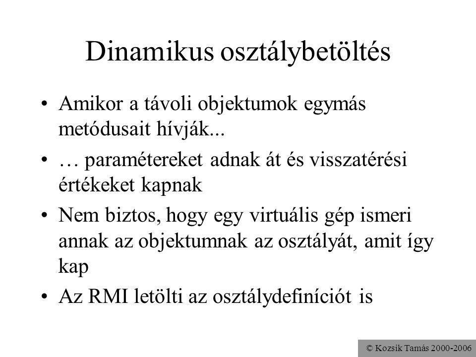 © Kozsik Tamás 2000-2006 Futtatás (Windows) rmiregistry (pl.